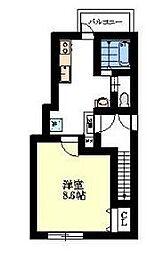 メイプル清水2[2階]の間取り
