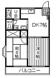 ピアン松原[3階]の間取り