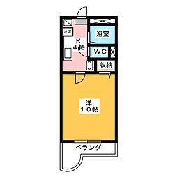 岡山県岡山市北区今8の賃貸マンションの間取り