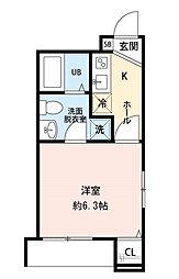 CRESIA松戸[203号室]の間取り