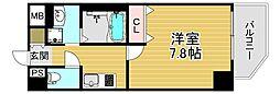 ファーストフィオーレ大阪ウエスト 5階1Kの間取り