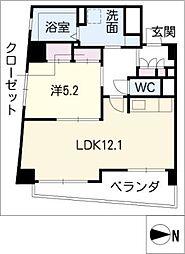 ビジャ松原[4階]の間取り
