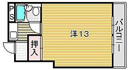 大阪府吹田市昭和町の賃貸マンションの間取り