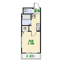 はなぶさマンション第2[302号室]の間取り