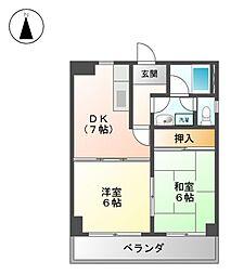 シャトー黒鉾[3階]の間取り