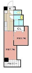 デザイナープリンセス77[9階]の間取り