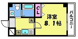 仮)梅津神田町共同住宅 2階1Kの間取り