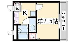 塚本コーポS[301号室]の間取り