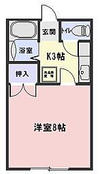 ワンルームマンション大津[105号室]の間取り