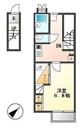 レオパレスAYUTAKU22[2階]の間取り