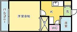 メゾン・ド・カリス[403号室]の間取り