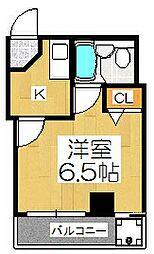 ランドマークハヤシ[6階]の間取り