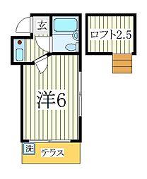ジュネパレス柏第03[1階]の間取り