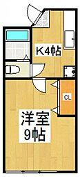 アップルパイII[1階]の間取り