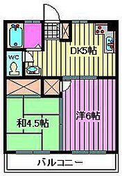 丸山コーポ[305号室]の間取り