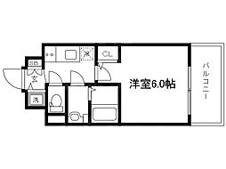 Osaka Metro谷町線 天神橋筋六丁目駅 徒歩4分の賃貸マンション 5階1Kの間取り