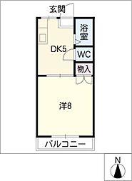 ハイツ高木[2階]の間取り