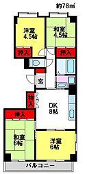 エフォートマンション[502号室]の間取り
