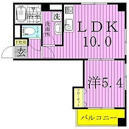 東京都足立区加賀2丁目の賃貸マンションの間取り