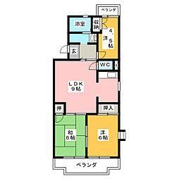 ファミーユ・M[1階]の間取り