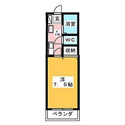 グローリーネギシII[1階]の間取り