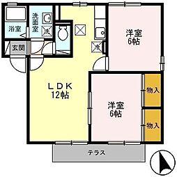 PURE-FIRST千秋[1階]の間取り