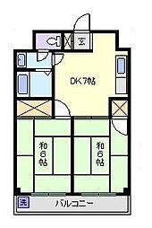 第三富士マンション[3階]の間取り