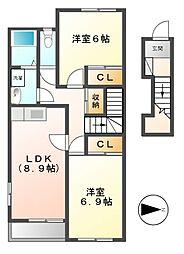 エクシードⅢ[2階]の間取り