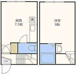 JPコート美園II[203号室]の間取り