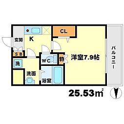 アーデン江坂III[5階]の間取り