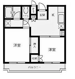 モカコート[4階]の間取り