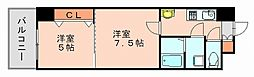 ロイヤル呉服[7階]の間取り