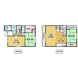 [一戸建] 大阪府東大阪市日下町2丁目 の賃貸【/】の間取り