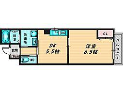 ファンライフ小阪 3階1DKの間取り