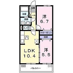 Marusa 23[2階]の間取り