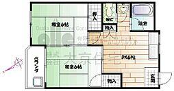 日昇マンション[203号室]の間取り