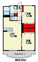 KAKU BLD Ⅱ[1階]の間取り