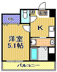 梅香新築マンション[2階]の間取り