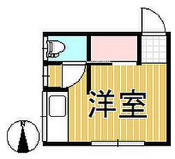 公田町アパート[201号室]の間取り