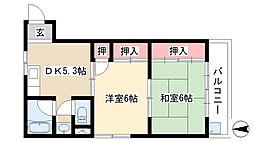 愛知県日進市梅森台4丁目の賃貸アパートの間取り