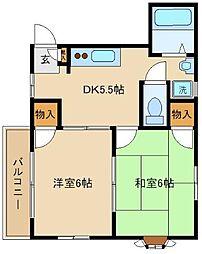 千葉県松戸市西馬橋広手町の賃貸アパートの間取り