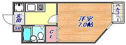 フラッツ・エクシード[3階]の間取り