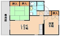 エクセルクローバーB棟[1階]の間取り