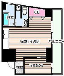 第2メゾン北梅田[4階]の間取り