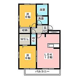セジュールM[1階]の間取り