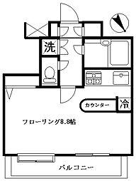 ヴィルヌーブタワー駒沢[6階]の間取り