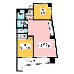 原名城ビル[5階]の間取り