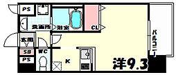 兵庫県神戸市中央区花隈町の賃貸マンションの間取り