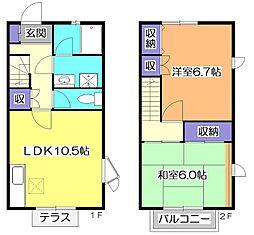 [テラスハウス] 東京都小平市小川町1丁目 の賃貸【/】の間取り