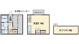 ギャラリークラッセ次郎丸 2階ワンルームの間取り